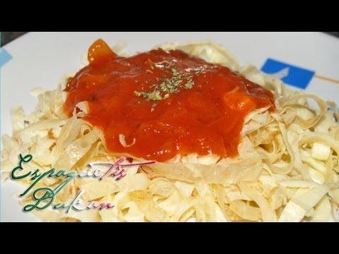 Espaguetis Dukan - Dukan Spaghetti - Receta Fase Crucero