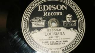 Thomas Edison's Electric Light Bulb Band Video - Louisiana (Razaf) - Duke Yellman & His Orch, Edison 52353-R