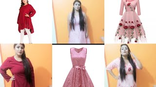 I tried club factory dresses|summer dresses|club factory haul|afsha aarzu|online shopping review