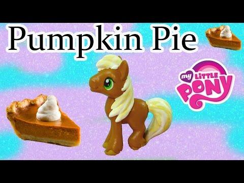 Custom MLP My Little Pony Thanksgiving Pumpkin Pie DIY Painted Holiday Craft Big Macintosh Stallion