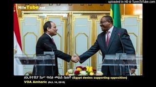 ለኢትዮጵያ ክሥ ግብፅ መልስ ሰጠች (Egypt denies supporting opposition) - VOA Amharic (Oct. 14, 2016)