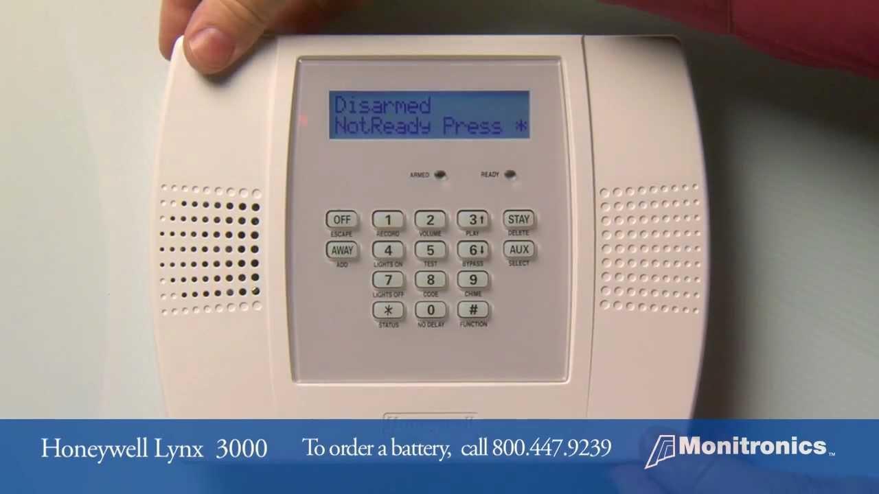 honeywell alarm system manual 6160