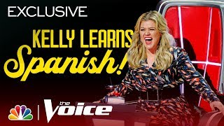 Kelly Clarkson Is Going to Be Speaking Like Salma Hayek in No Time - The Voice 2019