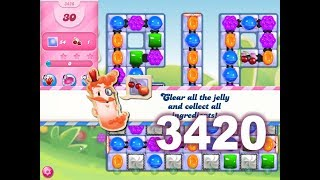 Candy Crush Saga Level 3420 (3 stars, No boosters)