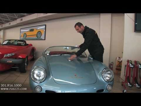 1955 Porsche 550 Spyder for sale with test drive. driving sounds. and walk through video