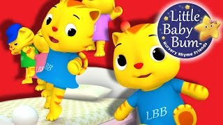 Five Little Kittens Jumping On The Bed | Nursery Rhymes | Original Song by LittleBabyBum!