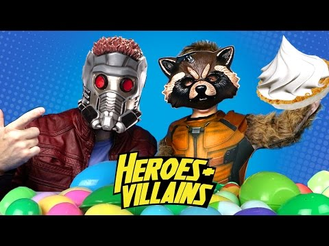 Heroes and Villains IRL Marvel Superhero Toys Edition + Play-Doh Surprise Eggs Challenge | KIDCITY