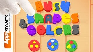 Busy Shapes and Colors - educational game for toddlers - app demo [iPad,iPhone,Android]