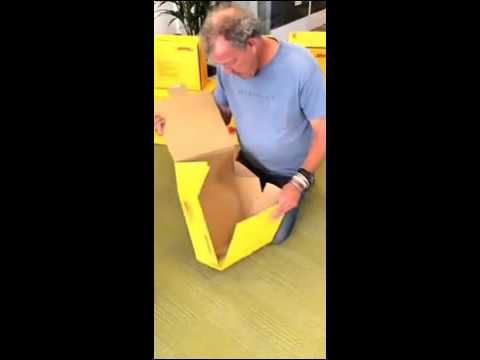 Jeremy Clarkson tries to make a cardboard box!