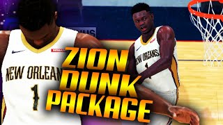 NBA 2K20 Zion Williamson FULL DUNK PACKAGE & Jumpshot GAMEPLAY [EXCLUSIVE REVEAL]