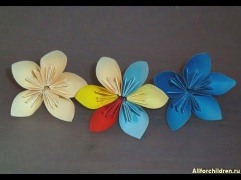 "Оригами ""Цветок"" из бумаги.Своими руками.?? - YouTube"