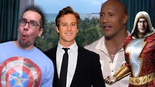 Dwayne Johnson Considers Armie Hammer for Shazam. But...Green Lantern?
