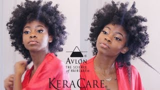 BOMB CURLY FRO ON NATURAL HAIR | FT. Kera Care
