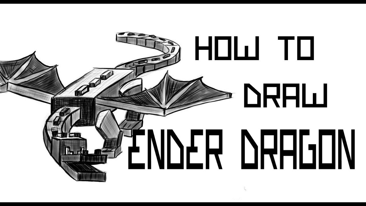 Ender Dragon Drawing ep 86 How to Draw The Ender