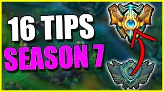16 Tips for SEASON 7 RANKED SOLO QUEUE - League of Legends