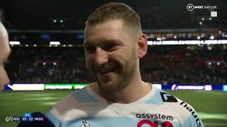 """Teddy Thomas is on fire!"" Finn Russell on Racing win over Munster"