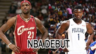 Zion Williamson vs Lebron James First NBA Debut | Debut Highlights