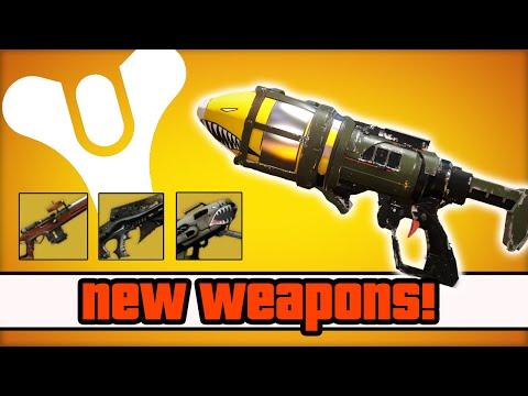 Destiny - NEW Exotic Weapons, Exotic Core Shards, & Crota's End Raid! (Destiny Legendary Rewards)