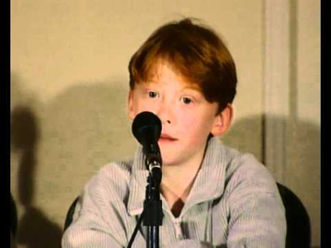 Young Rupert Grint on being like Ron Weasley
