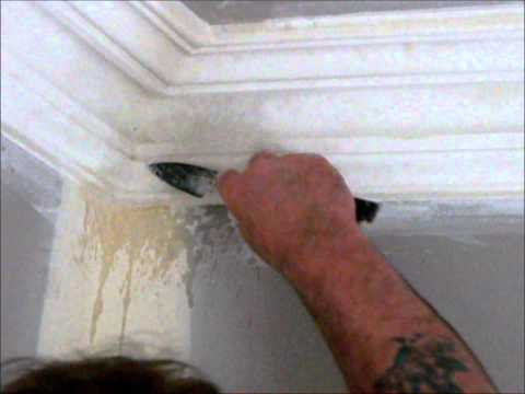 Doing the mitres on the cornice ~ Hawthorn Plaster Repairs