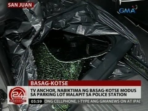 TV Anchor, nabiktima ng basag-kotse modus sa parking lot malapit sa police station sa San Juan City
