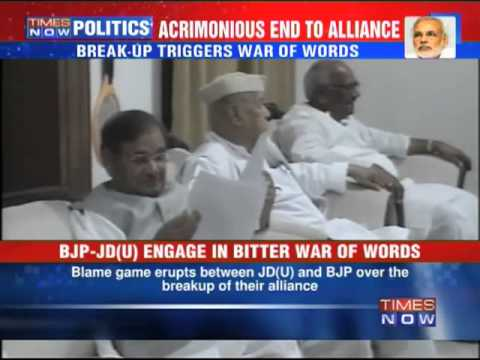 BJP-JD(U) engage in bitter war of words