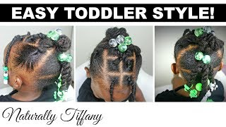 Quick Easy Toddler Style!   Type 4 Hair   Kids Natural Hair Care