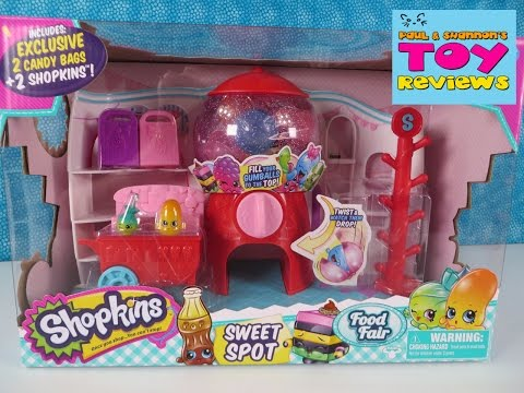 Shopkins Sweet Spot Food Fair Toy Review Unboxing | Surprise Toys | PSToyReviews