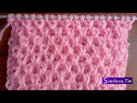 Вязание узора жемчужный узор