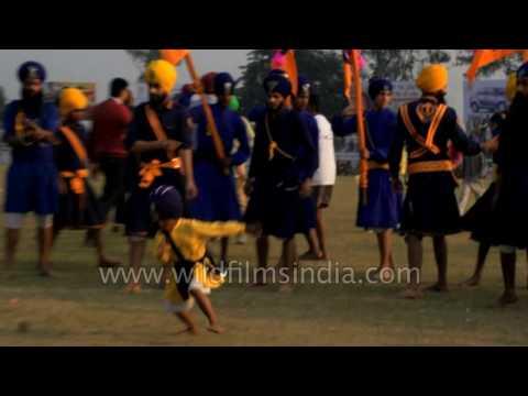 Nihang warriors demonstrate Gatka skills in Ludhiana