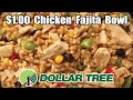 Dollar Tree Southwestern Style Chicken Fajita Bowl - WHAT ARE WE EATING? - The Wolfe Pit