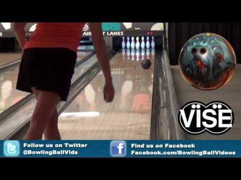 Ebonite Persevere Bowling Ball Reaction Video   Bowlingballvideos.com