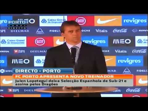 Apresentação de Julen Lopetegui, novo treinador do FC Porto