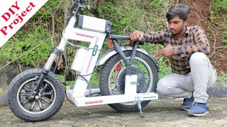 how to make Crazy mini electric bike at home ll DIY PROJECT