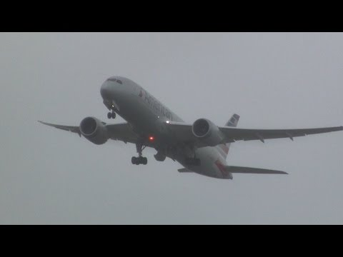 American Airlines ► Boeing 787-8 Dreamliner ► Inaugural Takeoff ✈ Auckland Airport