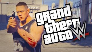 GTA 5 WWE Mods Ep 2 JOHN CENA COMMITS MURDER GTA 5 Mods Lets Play 2