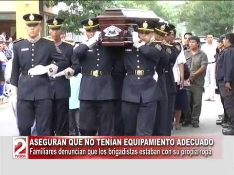 DESPIDIERON LOS CUERPOS DE LOS BRIGADISTAS FALLECIDOS EN GUACHIPAS-TV DOS SALTA