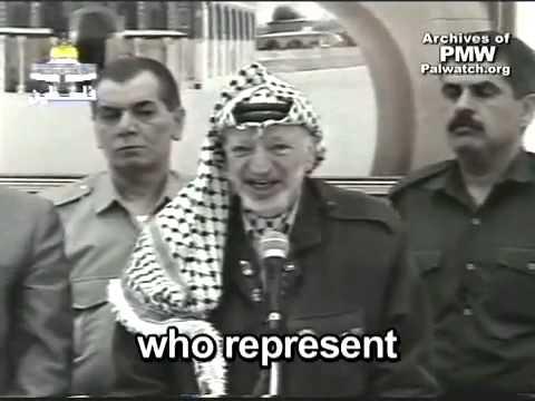 Yasser Arafat encourages Palestinian children to seek death as Martyrs