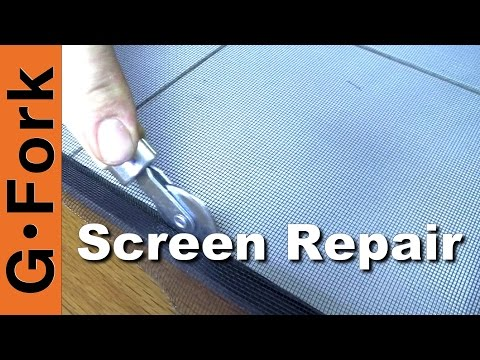 Fix Window and Door Screens Yourself - GardenFork