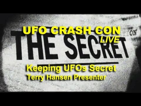 UFO Crash Con - Keeping UFOs Secret - Terry Hansen LIVE