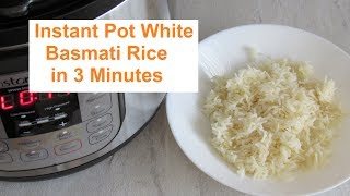 Instant Pot Perfect White Basmati Rice in 3 Minutes/ #Recipe358CFF / #instantpot
