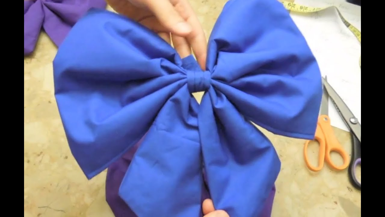 How To Sew Anime Cosplay Christmas Style Bows Youtube