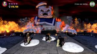 LEGO DIMENSIONS GHOSTBUSTERS LEVEL PART 5 FINAL BOSS GOZER AND STAY PUFF BATTLE THE END