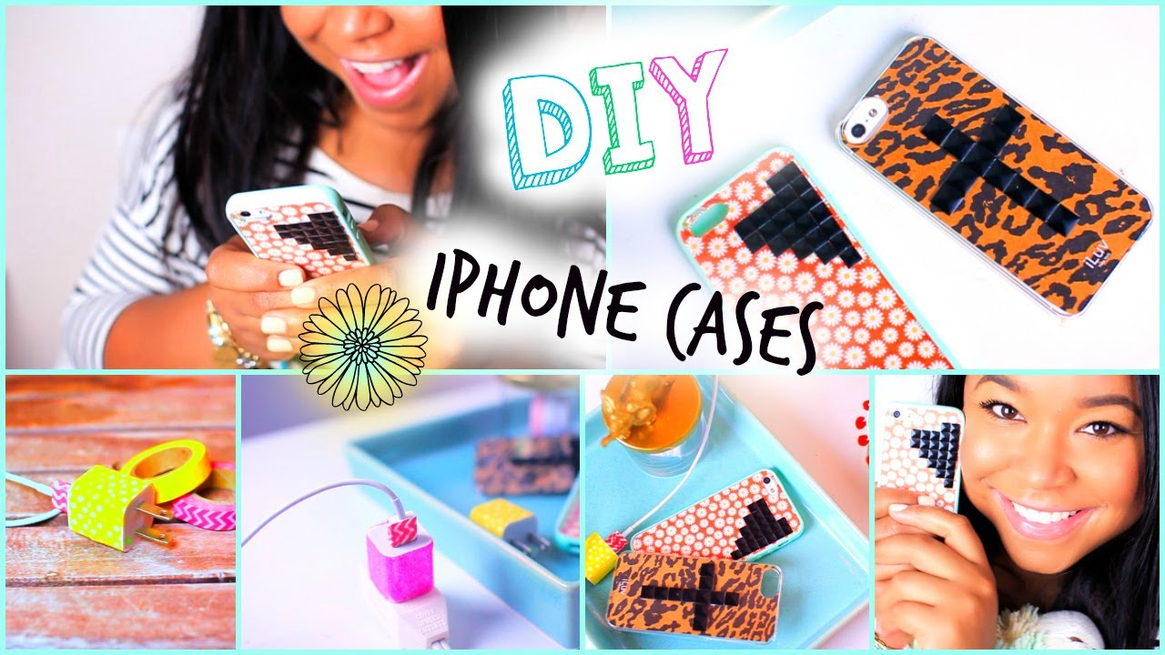 DIY Wildflower/ Tumblr iPhone Case| DIY Glitter Charger ...