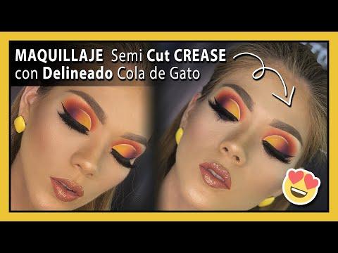 MAQUILLAJE Semi Cut 💁♀Delineado Cola de Gato Paso a Paso😍