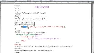 HOW TO USE CSS METHOD IN JQUERY DEMO TAMIL