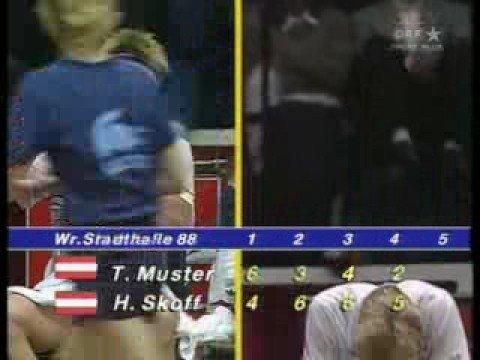 Horst Skoff vs. Thomas Muster BA-CA Tennis Trophy 1988 12/12