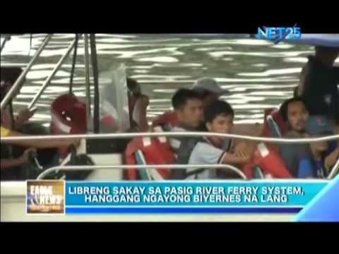 Last day of Pasig River ferry free ride