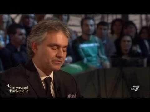 LE INVASIONI BARBARICHE – Daria Bignardi intervista Andrea Bocelli