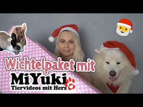 WICHTELPAKET mit MIYUKI Tiervideos mit Herz   weihnachtliches Tauschpaket   Haul   Tiere